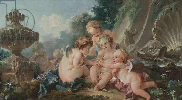 Cupids in Conspiracy, 1740s (oil on canvas)