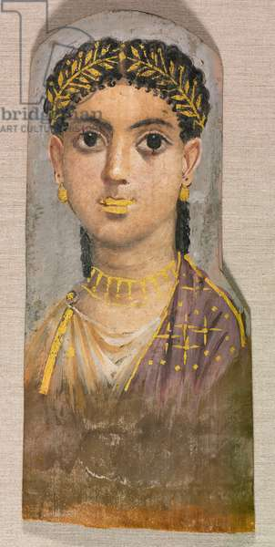 Funerary Portrait of a Young Girl, c.25-37 (encaustic on wood)