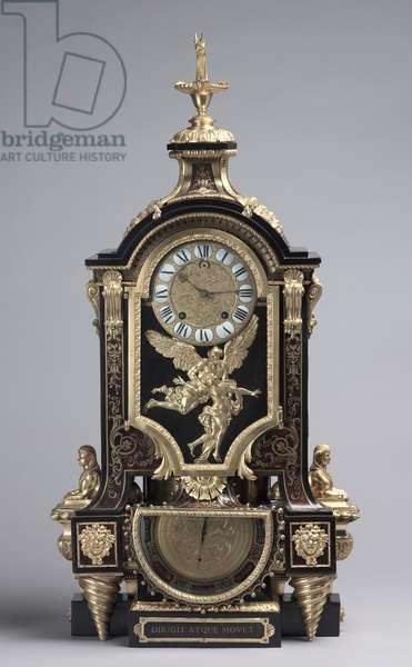 Clock, movement maker Baltasar Martinot, c.1695 (tortoise shell & brass inlay, gilt bronze)