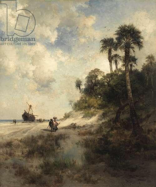 Fort George Island, Florida, 1878 (oil on canvas)