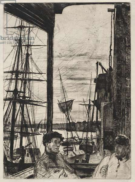 Rotherhithe, 1860 (etching and drypoint)