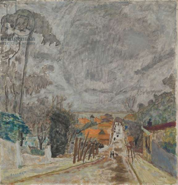 The Road to Nantes, 1929 (oil on fabric)