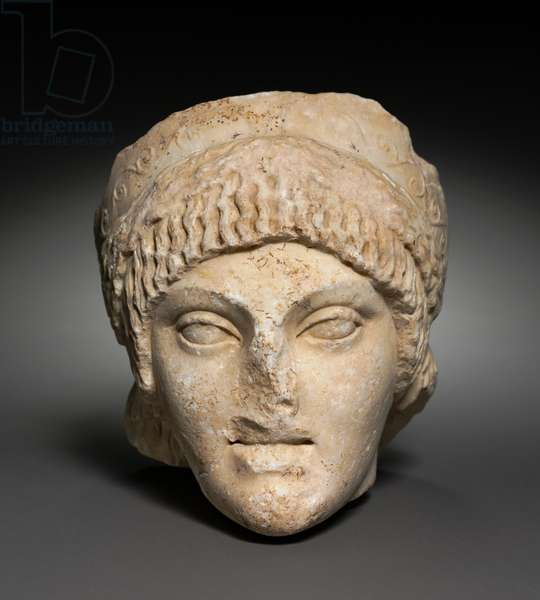 Head of a Young Woman, 25-1 BC (marble)