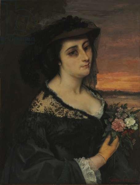 Mme L... (Laure Borreau), 1863 (oil on fabric)