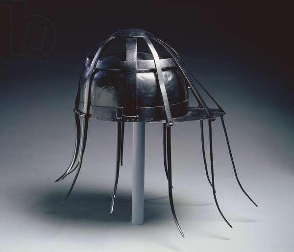 Cavalry Spider Helmet, 1600s (iron with black paint)