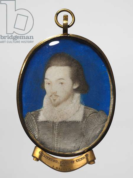 Portrait of a Man, c.1600 (w/c on vellum with a gold border in a gilt metal frame)