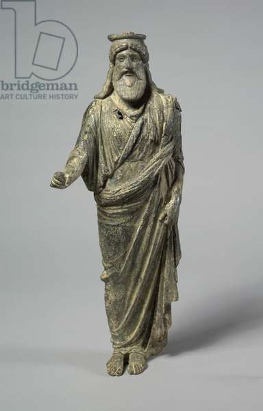 Statuette of Dionysos, 50 BC-50 (bronze and silver and traces of gilding, hollow cast)