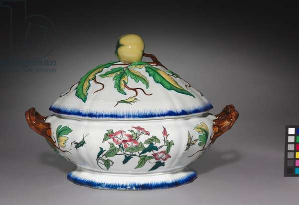 Tureen, made by Creil Factory, c.1870 (porcelain)
