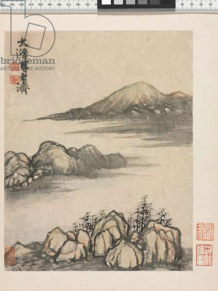 Reminiscences of the Qinhuai River, Qing Dynasty (ink & colour on paper)