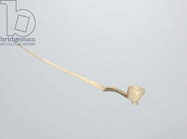 Snuff Spoon, late 1800s (bone)