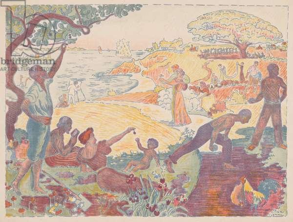 Harmonious Times, 1895-96 (colour lithograph)