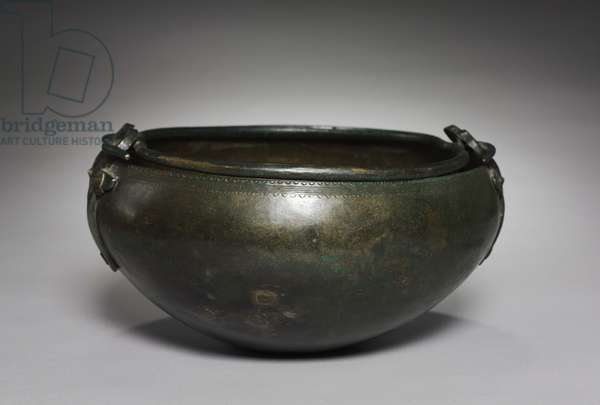 Ritual Cauldron, Hungary, c.1000-900 BC (bronze, hammered, cast and wrought)