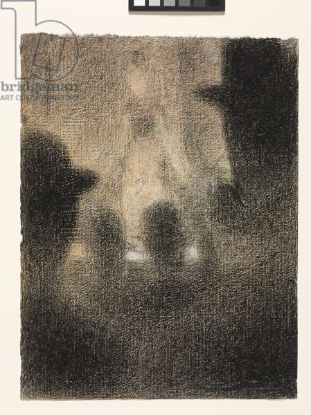 Café-concert, 1887-88 (conté crayon heightened with white chalk on paper)