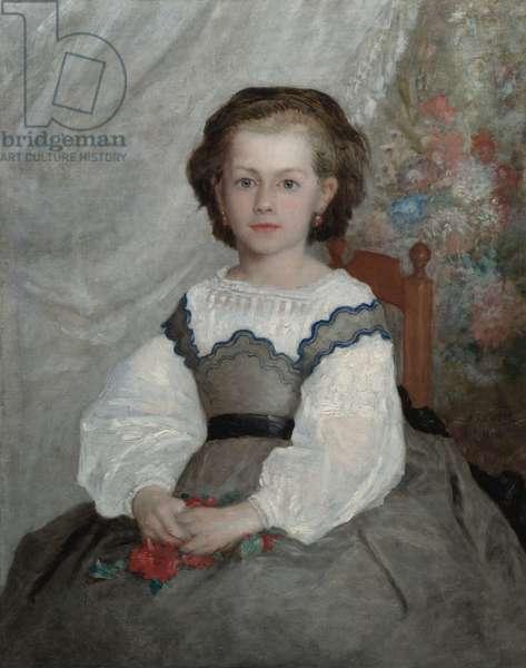 Romaine Lacaux, 1864 (oil on fabric)