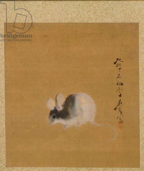 Mouse from Album of Paintings, 1847 (ink, colour, and gold on silk)