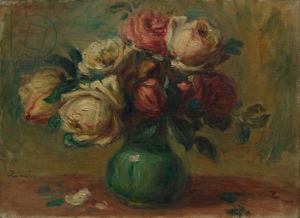 Roses in a Vase, c. 1890 (oil on canvas)