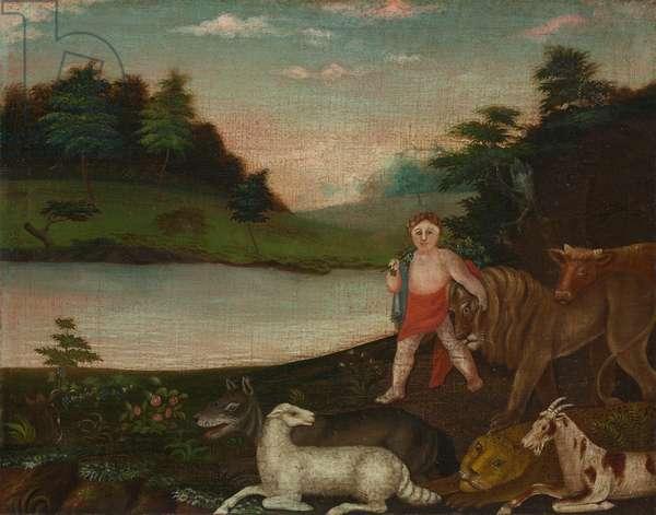 The Peaceable Kingdom, c.1816-18 (oil on canvas)