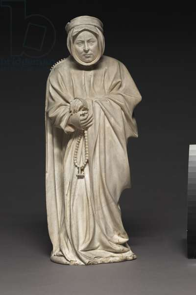Mourner from the Tomb of Philip the Bold, Duke of Burgundy, 1404-10 (alabaster)