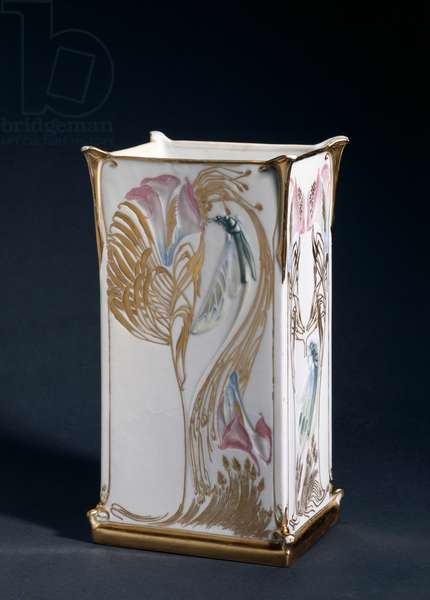 Vase, made by Gérard, Dufraissex and Abbot, c.1903 (porcelain with coloured glazes and gilding)