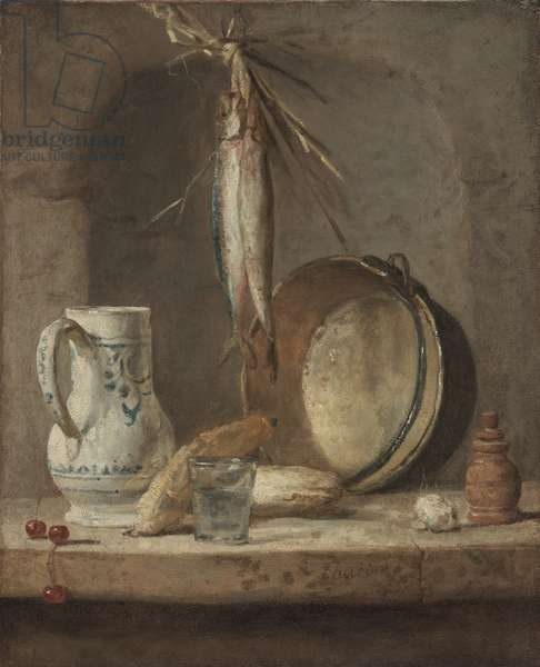 Still Life with Herrings, c.1735 (oil on canvas)