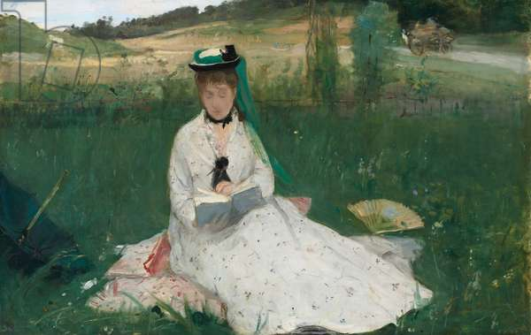 Reading, 1873 (oil on canvas)
