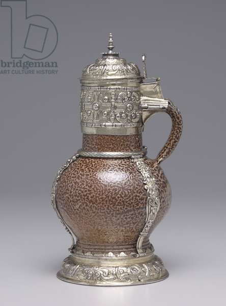 Tigerware Jug, 1594 (stoneware with gilt-silver mounts)