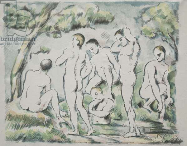 The Bathers, 1897 (colour lithograph)