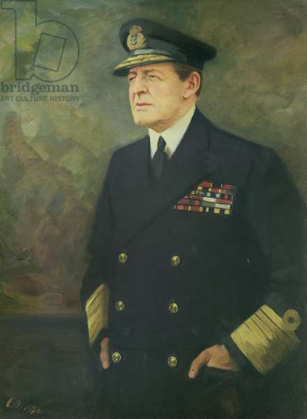 Portrait of the Admiral of the Fleet, Earl Beatty (1871-1936) (oil on canvas)