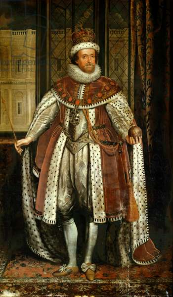 King James I and VI of Scotland (after Paul van Somer)
