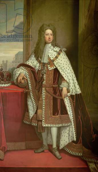 King George I (oil on canvas)