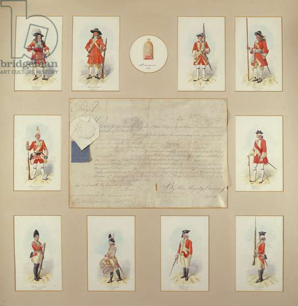 14th Regiment of Foot (coloured engraving)