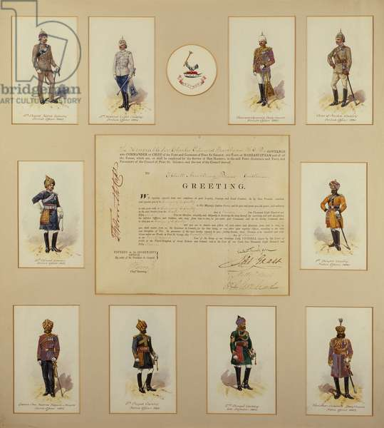 Officers of the British Army in uniform by R.Simkin, 19th century