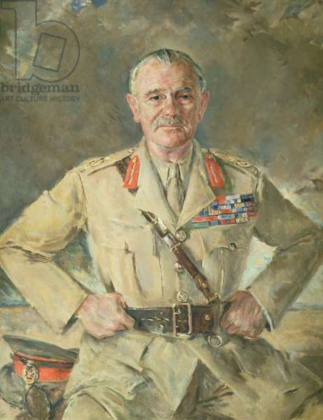 Field Marshal Earl Wavell (oil on canvas)
