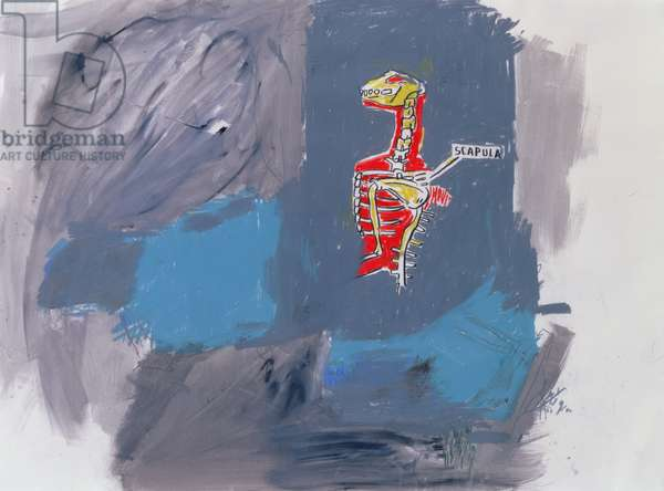 Scapula, 1983 (acrylic and oil crayon on paper)