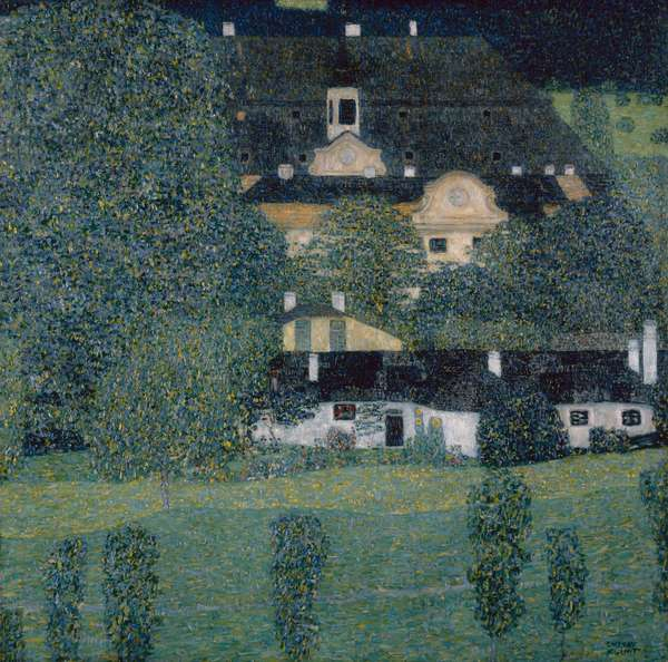 Kammer Castle on Lake Attersee II, 1909 (oil on canvas)