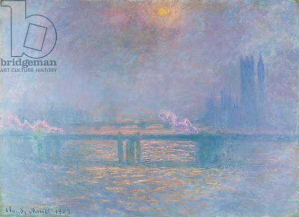 The Thames with Charing Cross Bridge, 1903 (oil on canvas)