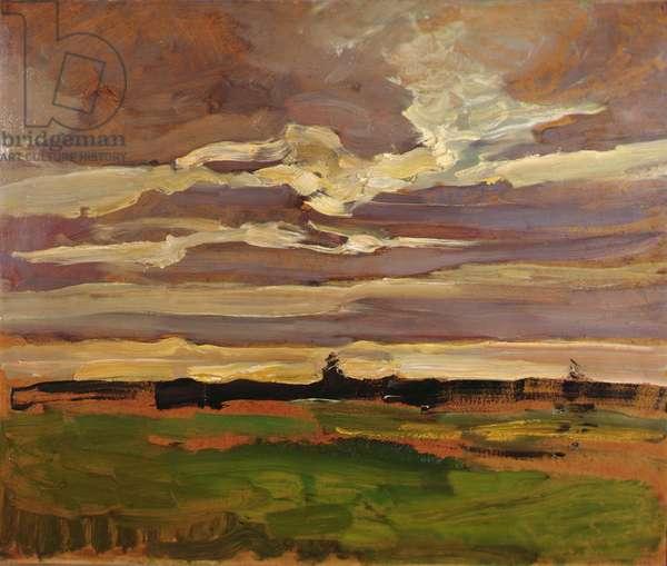 Moon Landscape, 1907 (oil on board)