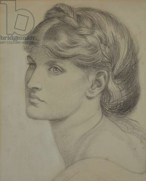 Portrait of Alexa Wilding, a study for 'The Bower Meadow', 1871 (chalk)