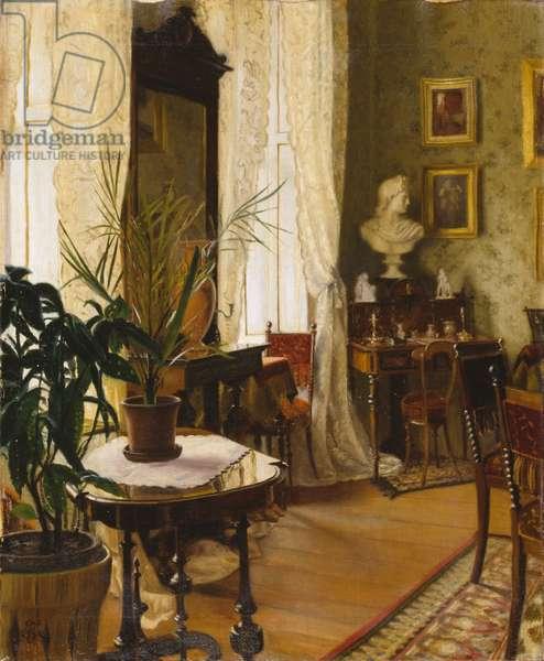 An Interior (oil on canvas)