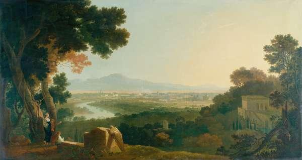 Rome from the Villa Madama (oil on canvas)
