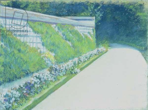 Le Mur du Jardin Potager, Yerres, 1877 (pastel on paper)