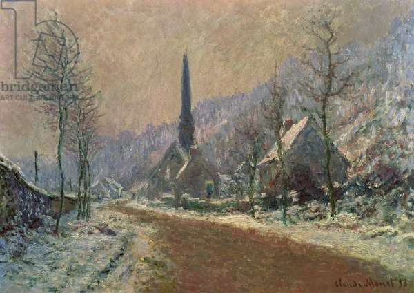 The Church of Jeufosse in Winter, 1893 (oil on canvas)
