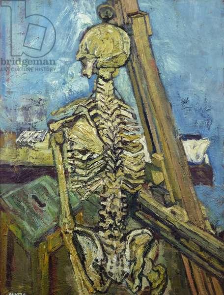 Skeleton, 1956 (oil on board)