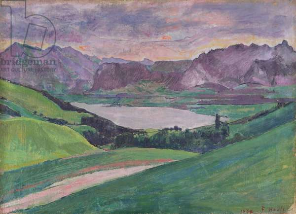 Thunersee, 1884 (oil on canvas)
