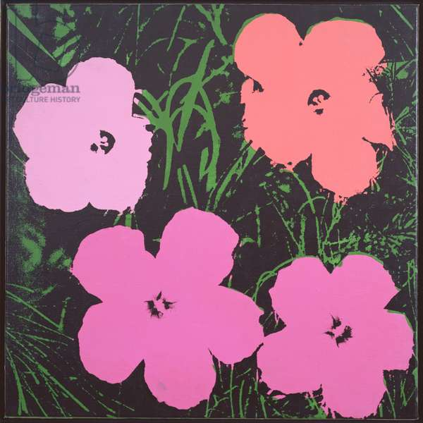 Flowers, 1964 (synthetic polymer silk screened on canvas)