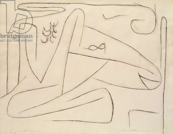 Kopf Eines Tieres, 1937 (charcoal and size on paper)