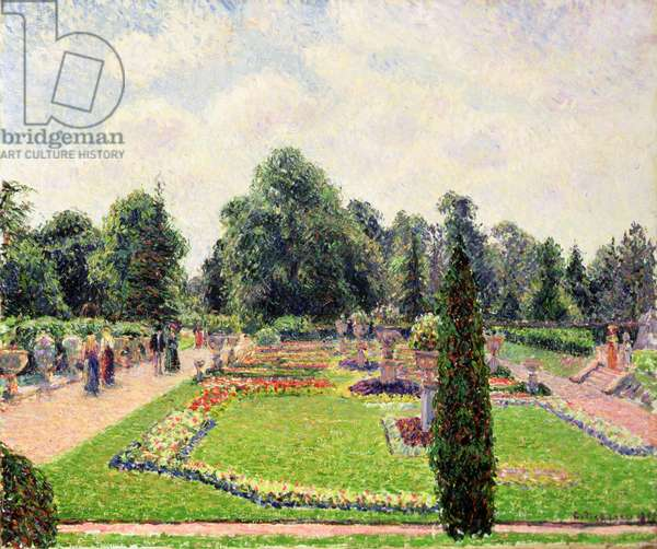 Kew Gardens - Path to the Great Glasshouse, 1892 (oil on canvas)