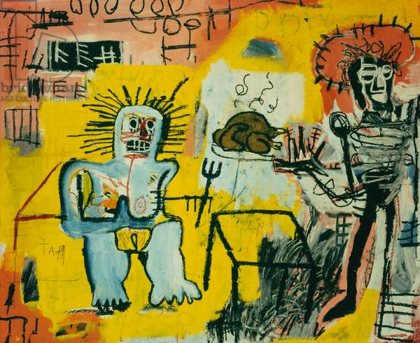 Rice and Chicken, 1981 (acrylic on canvas)