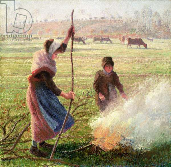White Frost, woman breaking wood, 1890 (oil on canvas)