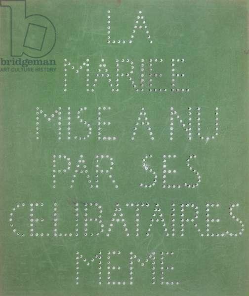 La Mariée Mise à nu Par Ses Célibataires Même (La boîte verte), 1934 (Paperboard, black and white photograph, fabric and handwritten notes)